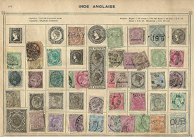 Lot de vieux timbres Inde British colonies India old stamps