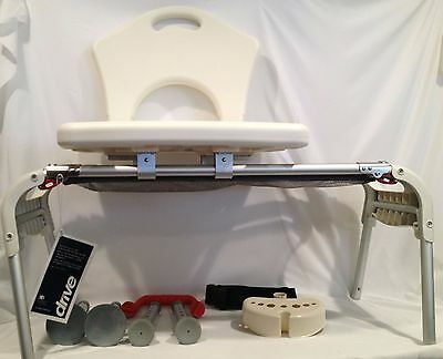 Drive Sliding Transfer Bench Seat Handicap Bath Chair Stool for Adult