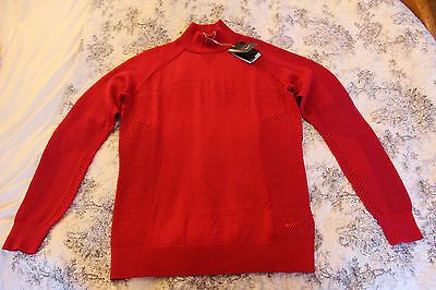 Nike Ladies Tour  Premium Golf Sweater Pullover Size L Standard Fit Red NWT