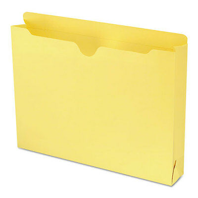 Smead Colored File Jackets with Reinforced Double-Ply Tab, Letter, Yellow,...