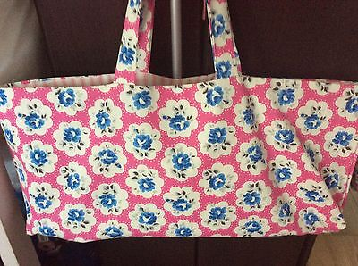 knitting bag,19 x 9 inch,cath kidston fabric Provence rose,red lining