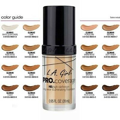 La L.A. GIRL - Pro Coverage HD Long Wear Illuminating Foundation