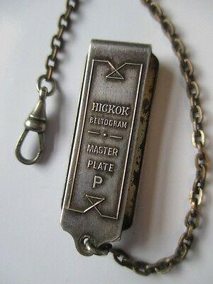 Old Hickok Beltogram with Fob Watch Chain