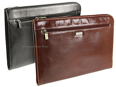 Visconti Leather Under Arm Meeting Folio A4 Document Holder File Folder Case