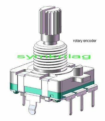 Rotary Encoder 24 Detents Pcb/ Panel Mount  Waterproof With  Switch,quality Item