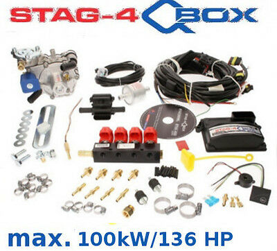 Autogas Conversion kit for 4 cylinders STAG Qbox 100 kW/136 HP LPG