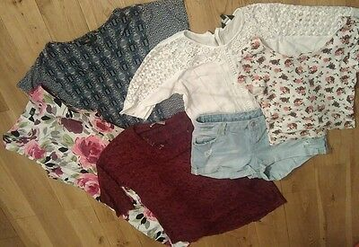 Mixed Bundle Summer Holiday Clothes Sz 12 Tops Dress Shorts 6 Items Immaculate