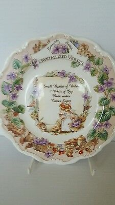 "Royal Doulton Brambly Hedge   Recipe Wall Plate ""Crystalized  Violets ""    mint"