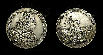 SWEDEN - medal in 1700 the Swedish victory over the Russians at Narva. Karl XII