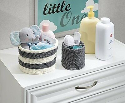2 Pcs Knit Baby Nursery Closet Organizer, Bins for Lotion, Pacifiers, Bibs, Toys