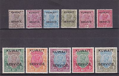 KUWAIT Officials 1929 Opts on India Complete set Fresh MVLH-MNH - 15R is MNH.