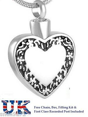Cremation Ashes Jewellery Memorial Urn Pendant Ash Keepsake Outline Of My Heart
