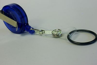 BLUE GEL HOLDER FOR PURELL HAND WASH sanitiser nurse carer NHS lanyard reel