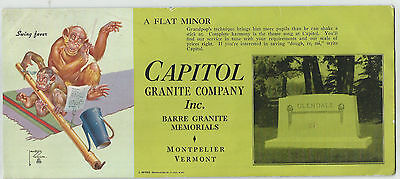 Capitol Granite Company Inc., Montpelier, Vermont - Ink Blotter