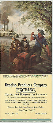 Excelso Products Co., West Allis, Wisconsin, Lincoln Earns a Dollar Ink Blotter