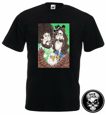 The Eagles Caricature Men T-Shirt Classic Country Rock 70s Don Henley Glenn Frey