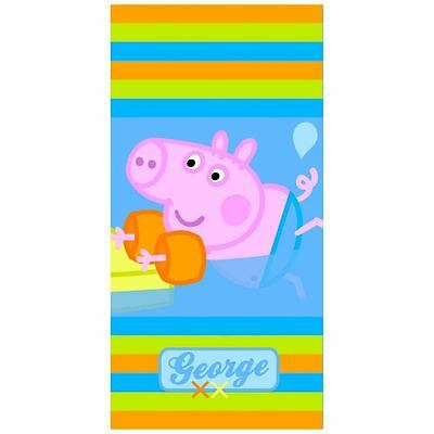 GEORGE PIG PEPPA 'ARMBAND' Beach or Bath Towel 70cm x 140cm Approx