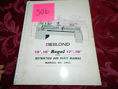 leblond regal lathe manual bull  leblond 3903 regal 13 16 17 19 operation parts manual