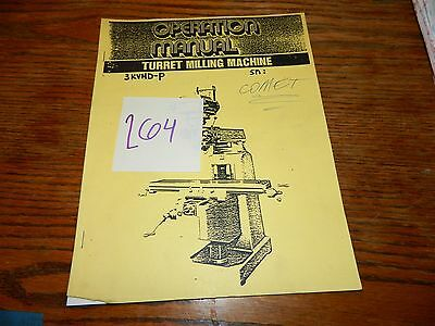 Comet Mill 3KVHD-P Operation & Maintenance Manual LOT # 265