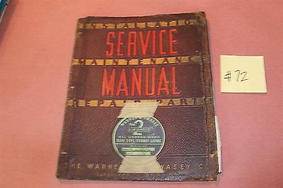Warner & Swasey M-1330 #2 6 Speed Lathe Operation & Maintenance Manual Lot # 72