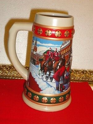 1994 Budweiser Collector Holiday Stein