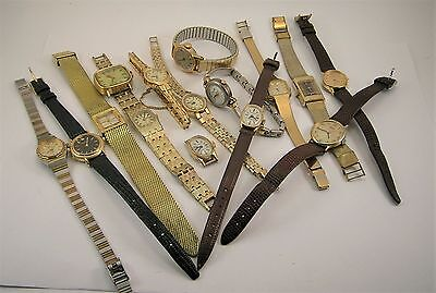 Lot Of 15 Watches Seiko - Caravelle - Timex Good Condition