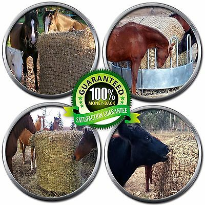 Slow Feeding Horse Pony Cattle Round Bale Hay Net with Small Holes (4cm) Large