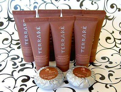Lot Of 9 Terrake Shampoo Conditioner Body Lotion Soap 30 Ml/1 Fl.oz. Each Sealed