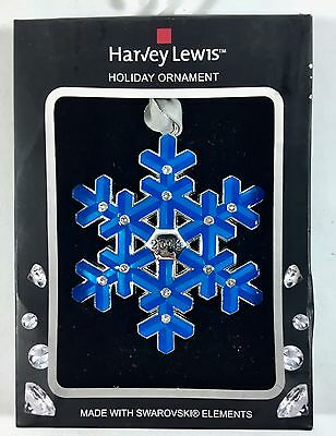 Harvey Lewis 2014 Collectible Swarovski Elements Holiday Christmas Tree Ornament