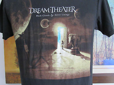 Dream Theater T-Shirt Black Clouds Silver Linings Album Cover Tour 2009 Medium