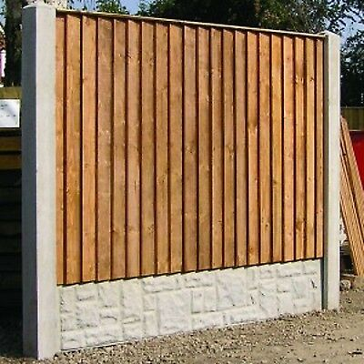 Pressure Treated Feather Edge Sawn Timber Fence Panels Straight Top