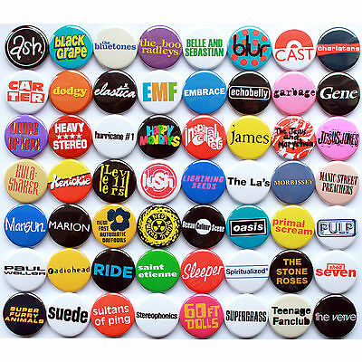 80's 90's Indie / Britpop Band Collection - 56 Quality Pin / Button Badges