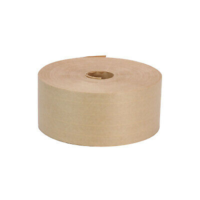 "2 PK 2-7/8"" x 450' Heavy Duty Fiber Gummed Paper Carton Box Kraft Packaging TAPE"