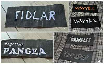 Fidlar / Together PANGEA / Wavves / Orwells Embroidered Iron-On Punk Rock Patch