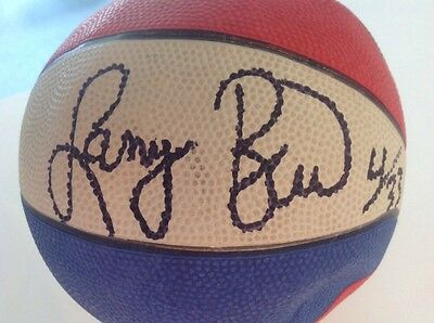Larry Bird Signed Autographed Basketball With His Number