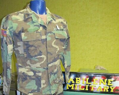 Us Army Bdu Woodland Shirt Or Pants Uniform Winter Weight Used Xsmall - Large