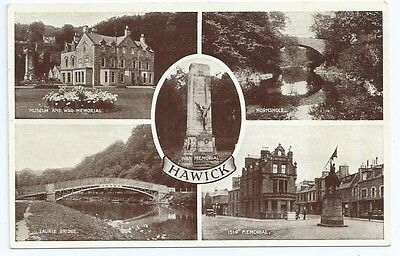 Vintage Postcard.  Hawick Multiview.  Unused.  Ref:6132