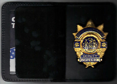 NYPD Badge bifold for CAPTAIN badge
