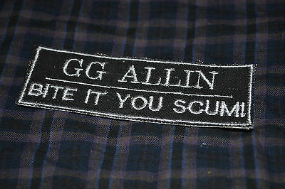 GG ALLIN Embroidered Iron-On Punk Rock Rare Patch Badge
