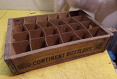 Vintage Used Mid-Continent Bottlers Inc Crate