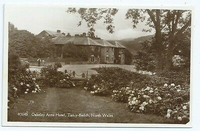 Vintage Postcard. RP. Oakeley Arms Hotel,Tan-y-Bwlch, N. Wales. Unused. Ref:6845