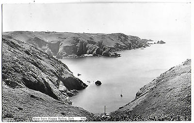 Vintage Postcard.RP View From Happy Valley,SARK. Used 1963 from Sark. Ref:71410.