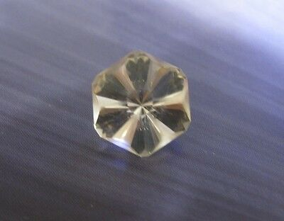 5.7ct Yellow Orthoclase - Flawless Precision Cut Custom Floral Design