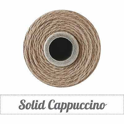 Twinery Spool Solid 4 Ply Twine Approx 240 yards-100% Cotton-Cappuccino Brown