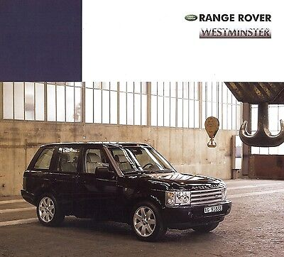 "2003 - RANGE ROVER ""Westminster"" limited edition - Swiss sales brochure, folder"