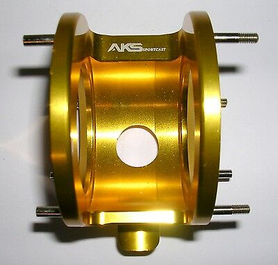 Aks Gold Pro-Tournament Genuine One Piece Low Rider Cage - Fits Abu 5500