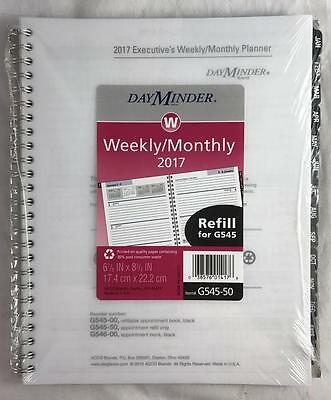 "NEW DayMinder Weekly/Monthly 2017 Planner Refill G545-50 6-7/8"" x 8-3/4"""