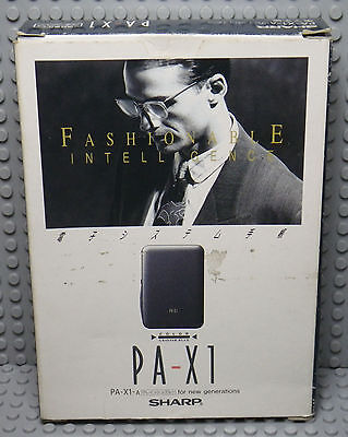 SHARP PA-X1 - Fashionable Intelligence - Agenda Electronique Vintage Japan