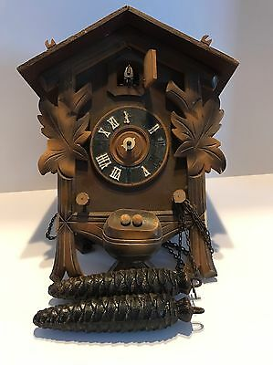 CUCKOO CLOCK MFG. CO. INC. GERMANY for PARTS With Weights