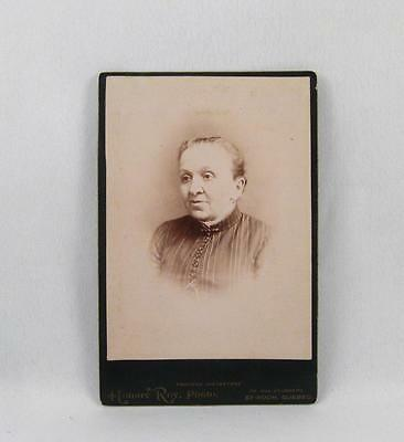 Antique Cabinet Photo Of A Old Woman By Honoré Roy Quebec